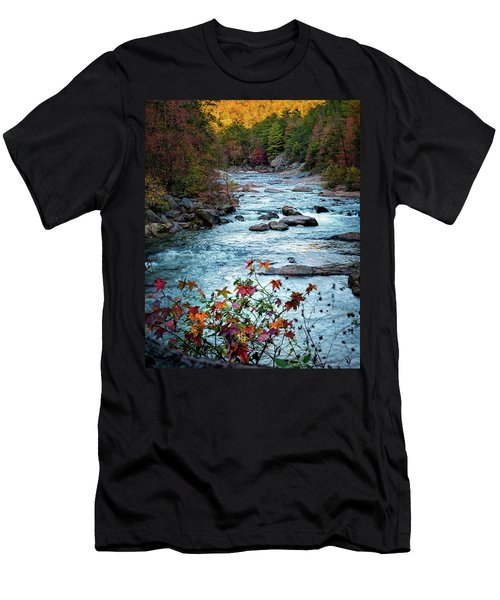 Autumn On Wilson Creek Men's T-Shirt (Athletic Fit)