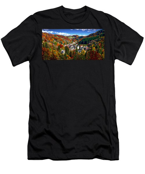 Men's T-Shirt (Athletic Fit) featuring the photograph Autumn Panorama by Anthony Dezenzio