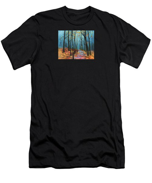 Autumn Path Men's T-Shirt (Slim Fit) by Terry Webb Harshman