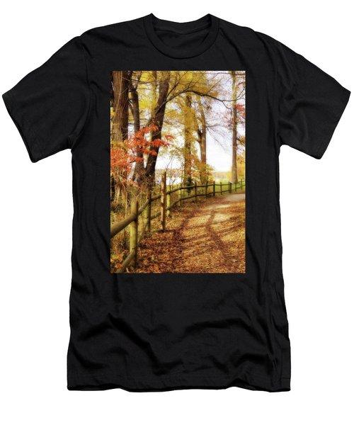 Autumn Pathway Men's T-Shirt (Athletic Fit)