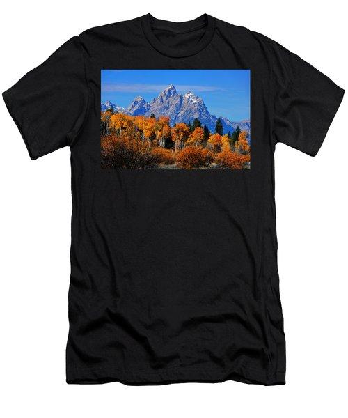 Autumn Peak Beneath The Peaks Men's T-Shirt (Athletic Fit)