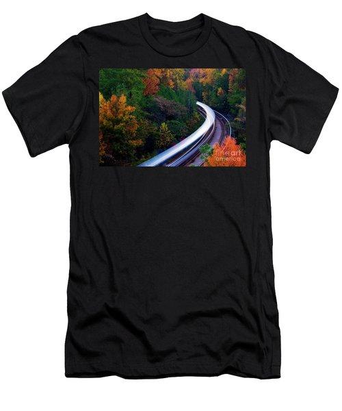 Autumn Rails Men's T-Shirt (Athletic Fit)