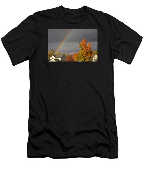 Autumn Rainbow Men's T-Shirt (Athletic Fit)