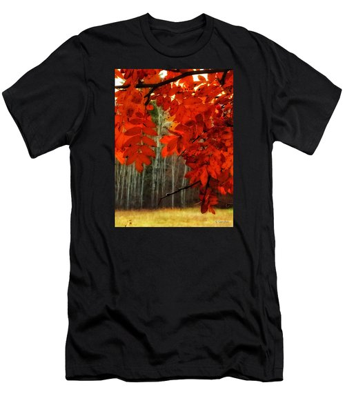 Autumn Red Men's T-Shirt (Athletic Fit)