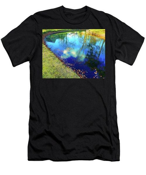 Autumn Reflection Pond Men's T-Shirt (Athletic Fit)