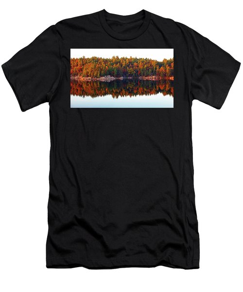 Men's T-Shirt (Slim Fit) featuring the photograph   Autumn Reflections by Debbie Oppermann