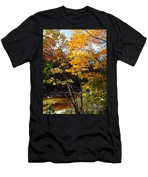 Men's T-Shirt (Athletic Fit) featuring the photograph Autumn River by Barbara Von Pagel