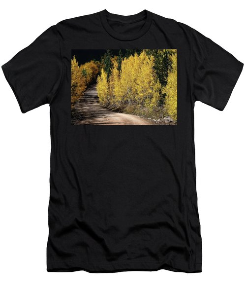 Men's T-Shirt (Slim Fit) featuring the photograph Autumn Road by Jim Hill