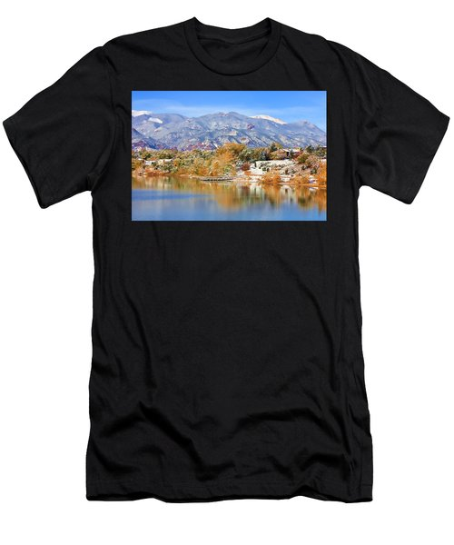 Autumn Snow At The Lake Men's T-Shirt (Athletic Fit)