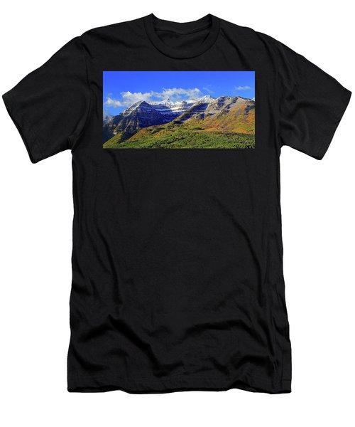 Autumn Snow On Timp Men's T-Shirt (Athletic Fit)