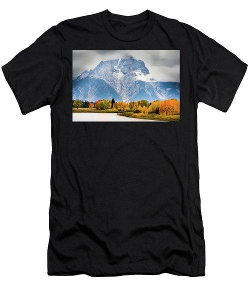 Autumn Storm Over Mount Moran Men's T-Shirt (Athletic Fit)