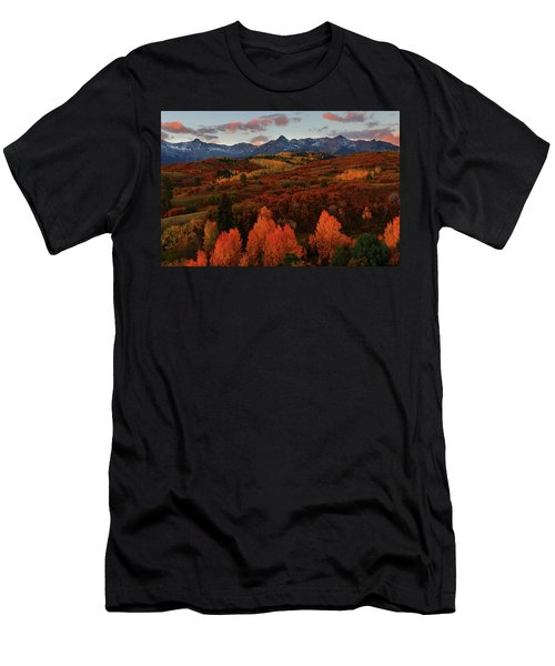 Men's T-Shirt (Slim Fit) featuring the photograph Autumn Sunrise At Dallas Divide In Colorado by Jetson Nguyen