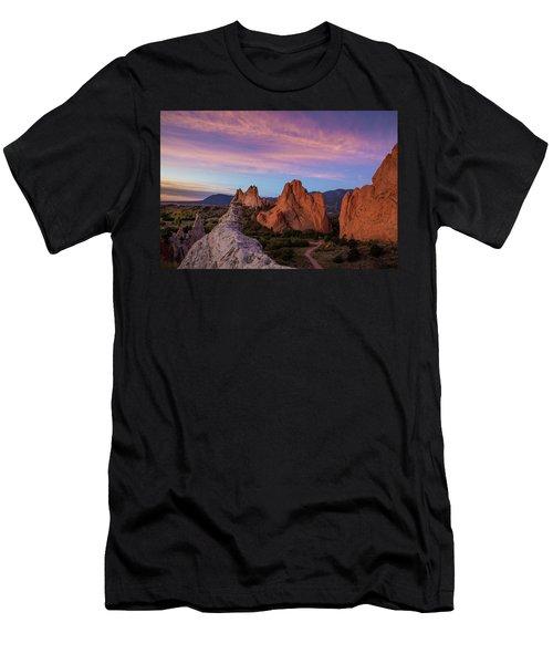 Autumn Sunrise At Garden Of The Gods, Colorado Springs, Colorado Men's T-Shirt (Athletic Fit)
