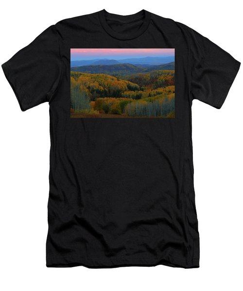 Autumn Sunrise At Rainbow Ridge Colorado Men's T-Shirt (Athletic Fit)