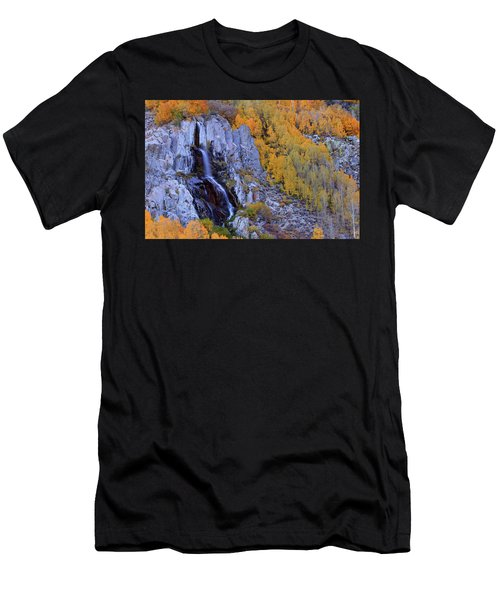 Autumn Surrounds Mist Falls In The Eastern Sierras Men's T-Shirt (Athletic Fit)