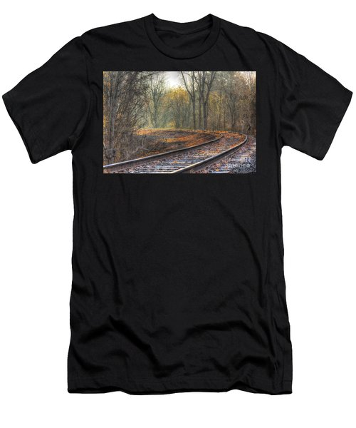 Autumn Tracks Men's T-Shirt (Athletic Fit)