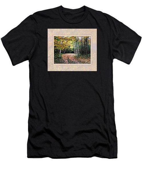 Autumn Trail Through The Birch Trees Men's T-Shirt (Slim Fit) by Joy Nichols