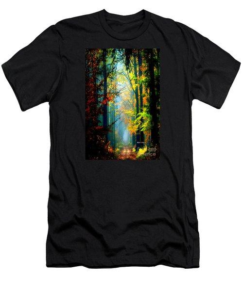 Autumn Trails In Georgia Men's T-Shirt (Athletic Fit)