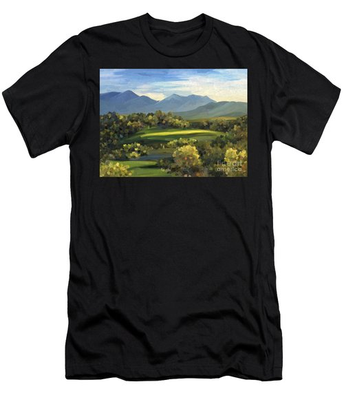 Men's T-Shirt (Athletic Fit) featuring the painting Autumn Trees by Ivana Westin