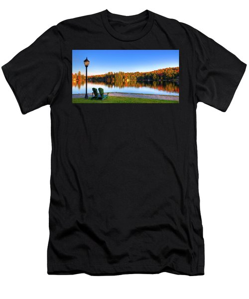 Autumn View For Two Men's T-Shirt (Athletic Fit)