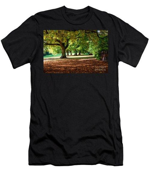 Autumn Walk In The Park Men's T-Shirt (Athletic Fit)