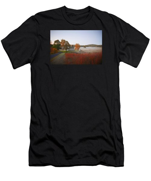 Men's T-Shirt (Athletic Fit) featuring the photograph Autumn Walk In Valley Forge by Bill Cannon