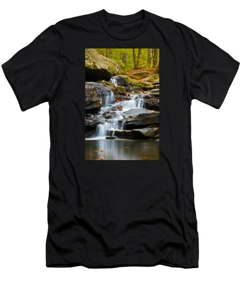 Autumn Waterfall Men's T-Shirt (Slim Fit) by Shelby  Young
