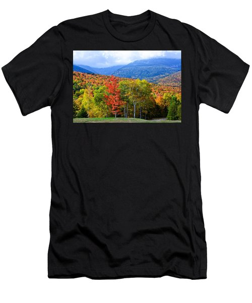 Men's T-Shirt (Athletic Fit) featuring the photograph Autumn White Mountains Nh by Michael Hubley