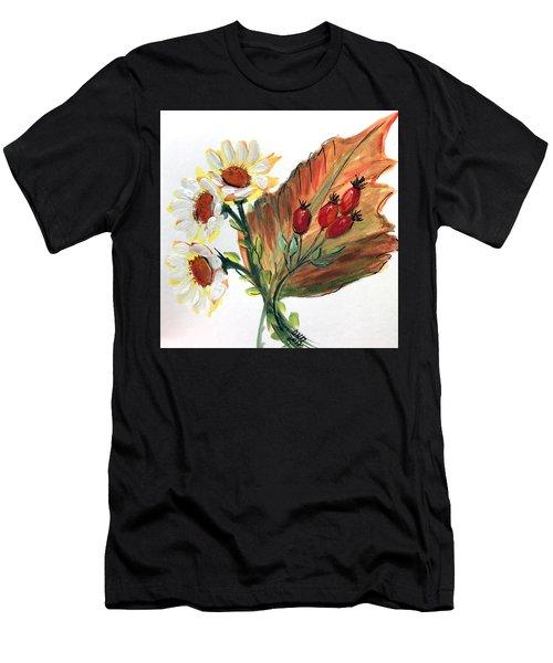 Autumn Wild Flowers Bouquet Men's T-Shirt (Athletic Fit)