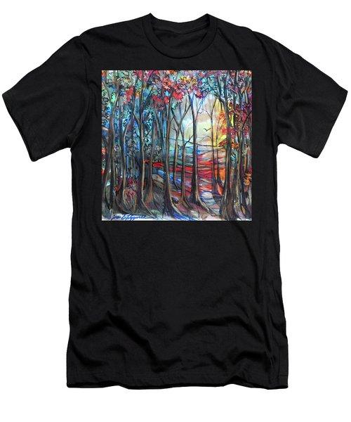 Autumn Woods Sunrise Men's T-Shirt (Athletic Fit)