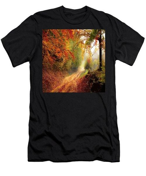 Autumnal Pathway Men's T-Shirt (Athletic Fit)
