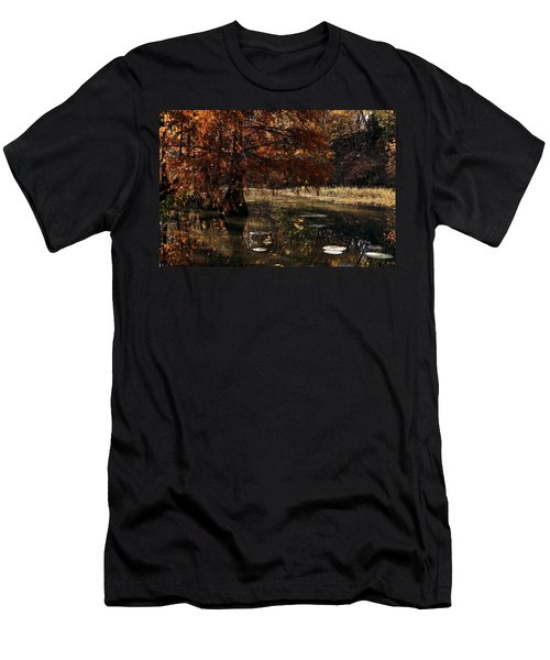 Men's T-Shirt (Slim Fit) featuring the photograph Autumnal Solace At Lake Murray by Tamyra Ayles