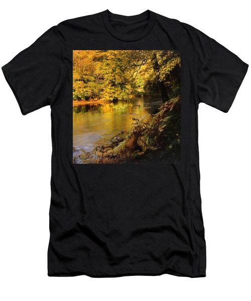 Autumnal Tamar River Devon Men's T-Shirt (Athletic Fit)