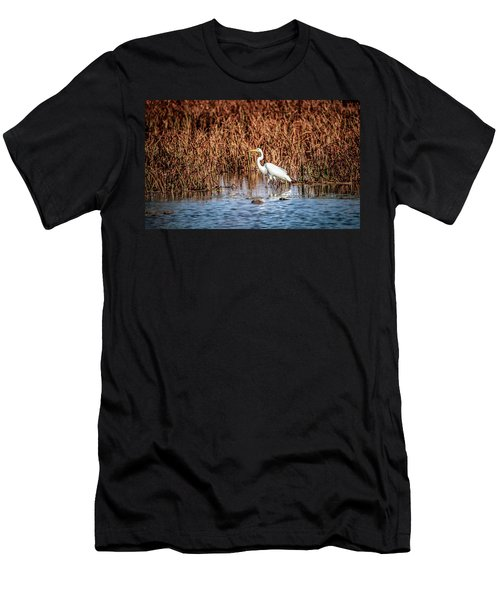 Autumn's Shore Men's T-Shirt (Slim Fit) by Ray Congrove