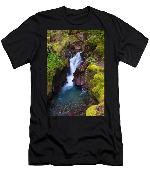 Men's T-Shirt (Athletic Fit) featuring the photograph Avalanche Gorge 4 by Gary Lengyel