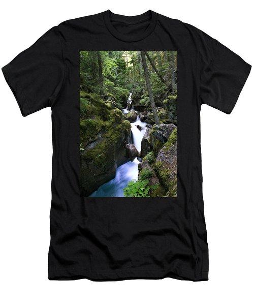 Avalanche Gorge Glacier National Park Men's T-Shirt (Athletic Fit)