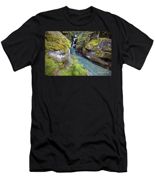 Avalanche Gorge In Glacier National Park Men's T-Shirt (Athletic Fit)