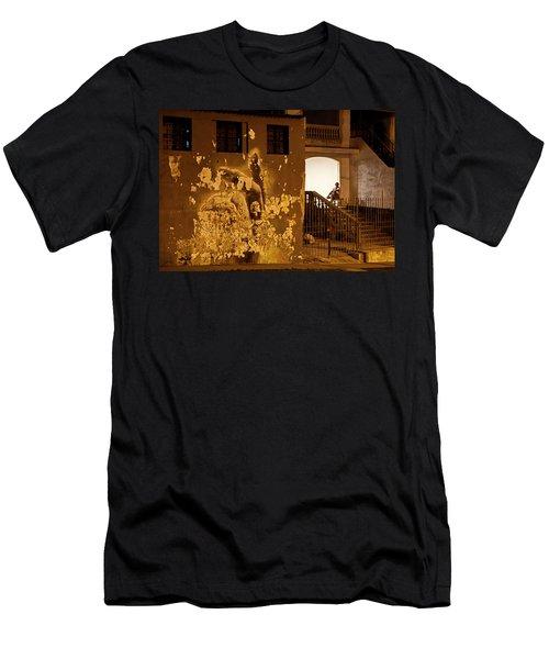 Avenue De Los Presidentes Havana Cuba Men's T-Shirt (Slim Fit) by Charles Harden