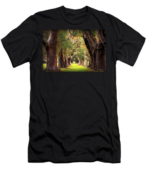 Avenue Of Oaks Sea Island Golf Club St Simons Island Georgia Art Men's T-Shirt (Athletic Fit)