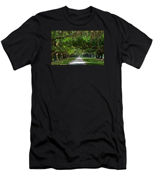 Avenue Of The Oaks At Boonville Plantation Men's T-Shirt (Athletic Fit)