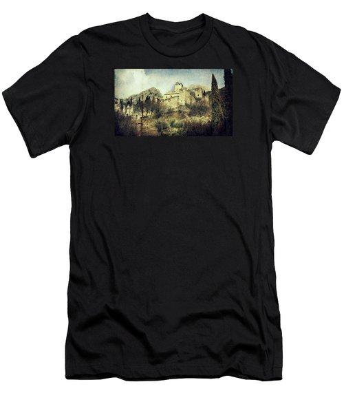 Avio Castle Men's T-Shirt (Slim Fit) by Vittorio Chiampan