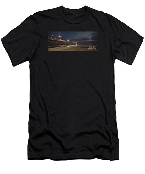 Avon Pier At Night Men's T-Shirt (Athletic Fit)