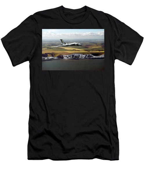 Avro Vulcan Over The White Cliffs Of Dover Men's T-Shirt (Athletic Fit)