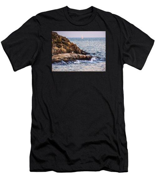 Awaiting The Call Men's T-Shirt (Slim Fit) by Glenn Feron