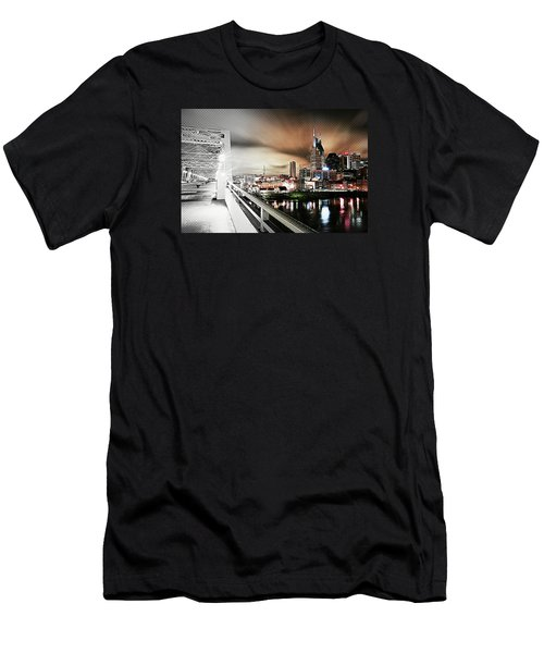 Awaiting The Dark Knight Men's T-Shirt (Slim Fit) by Matt Helm
