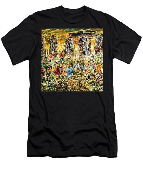 Men's T-Shirt (Slim Fit) featuring the painting Awaiting The Sun by Alfred Motzer