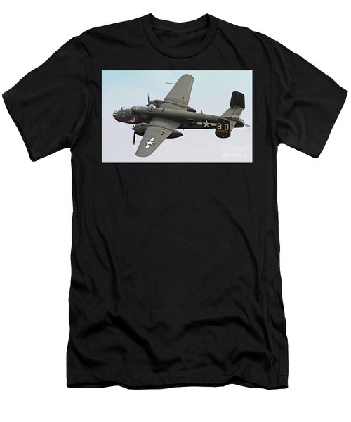 B-25 Mitchell Bomber Aircraft Men's T-Shirt (Athletic Fit)