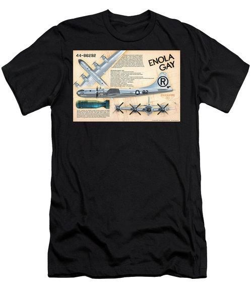 B-29 Enola Gay  Men's T-Shirt (Slim Fit) by David Collins