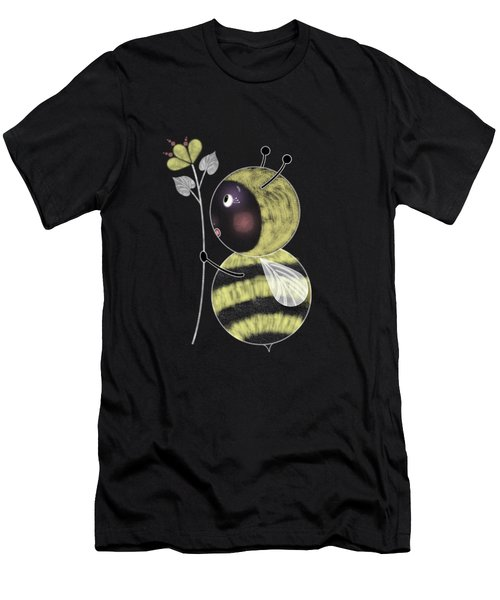 B Is For Bumble Bee Men's T-Shirt (Athletic Fit)
