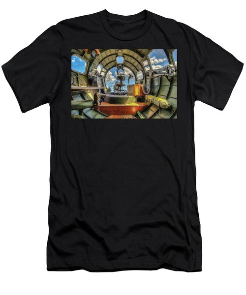 Men's T-Shirt (Athletic Fit) featuring the photograph B17 Nose Section Interior by Gary Slawsky